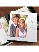 Personalised Flute Wedding Anniversary Photo Frame Album 6x4