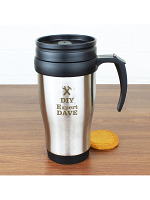 Personalised Man At Work Travel Mug