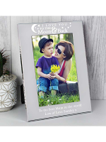 Personalised To the Moon and Back... 6x4 Silver Photo Frame (CLONE)