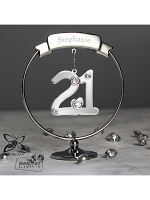 Personalised Name Only Crystocraft 21st Celebration Ornament