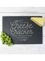 Personalised Cheese To My Cracker Slate Cheeseboard