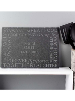 Personalised 'Together' Slate Placemat