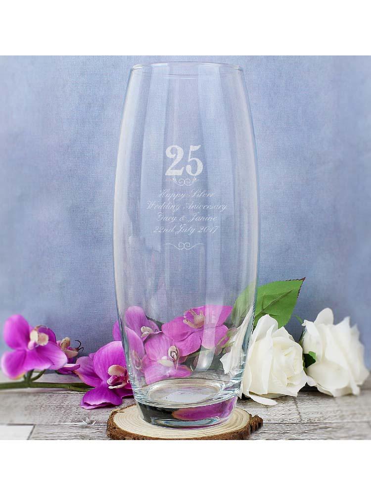 Personalised 25 Years Bullet Vase