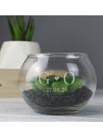 Personalised Initials Glass Terrarium