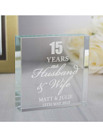 Personalised Anniversary Large Crystal Token