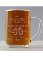 Personalised Birthday Vintage Typography Tankard