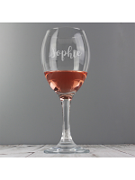 Personalised Name Only Engraved Wine Glass