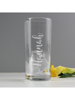 Personalised Name Only Engraved Hi Ball Glass