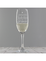 Personalised Prosecco is My Valentine Flute Glass