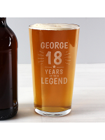 Personalised Years of This Legend Birthday Pint Glass