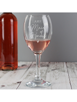 Personalised Maid of Honour Wine Glass