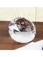 Personalised Initials Diamond Paperweight