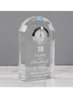 Personalised Anniversary Crystal Clock