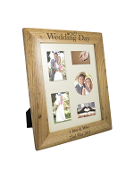 Personalised Wedding Day 10x8 Wooden Photo Frame