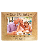 Personalised Grandparents 7x5 Landscape Wooden Photo Frame