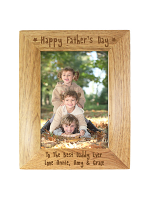 Personalised Happy Father's Day 7x5 Wooden Photo Frame