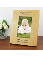 Personalised Long Message 6x4 Oak Finish Photo Frame