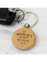 Personalised 'The World's Greatest' Wooden Keyring