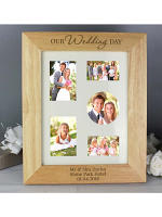 Personalised 'Our Wedding Day' 10x8 Wooden Photo Frame