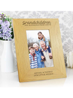 "Personalised """"Grandchildren Are A Blessing"""" 6x4 Oak Finish Photo Frame"