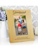 "Personalised """"The Best Grandparent"""" 6x4 Oak Finish Photo Frame"