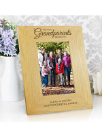 "Personalised """"The Best Grandparents"""" 6x4 Oak Finish Photo Frame"