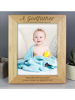 Personalised Godfather 10x8 Wooden Photo Frame