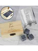 Personalised No.1 Whisky Stones & Glass Set