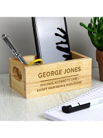 Personalised Free Text Mini Wooden Crate