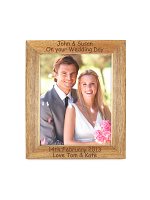 "Personalised 7""x5"" Wooden Photo Frame"