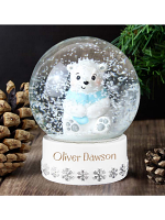 Personalised Polar Bear Any Name Snow Globe