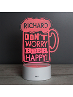 "Personalised """"Beer Happy""""  LED Colour Changing Light"