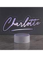 Personalised Free Text LED Colour Changing Desk Night Light