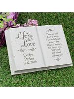 Personalised Life & Love Memorial Book