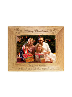 Personalised Snowflake 7x5 Landscape Wooden Photo Frame