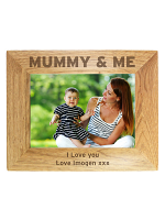 Personalised Mummy & Me 7x5 Landscape Wooden Photo Frame