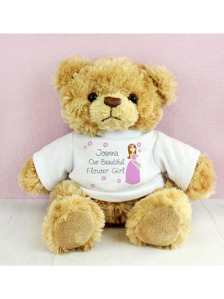 Personalised Fabulous Flower Girl Teddy Bear