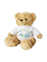 Personalised Patchwork Train Teddy Bear