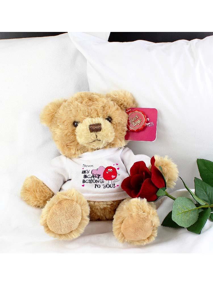 Personalised My Heart Belongs To You Monster Teddy Bear