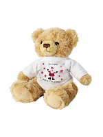 Personalised Spotty Santa Teddy Bear