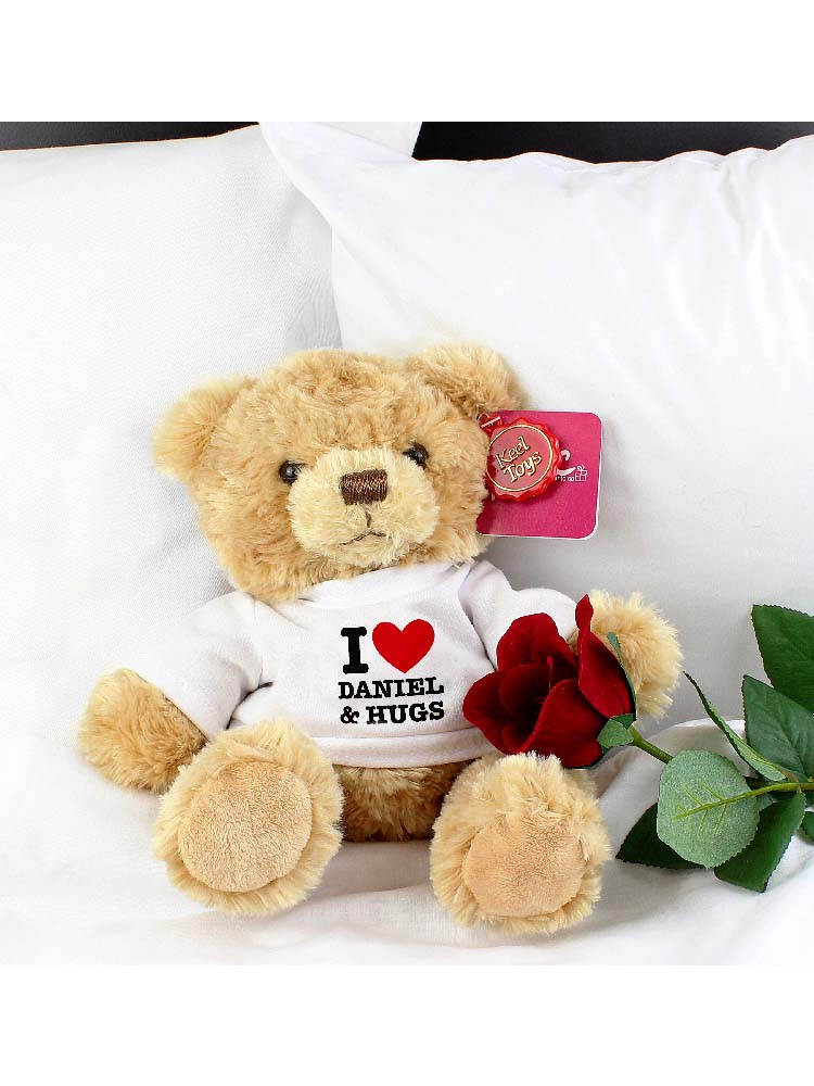 Personalised I HEART Teddy Bear