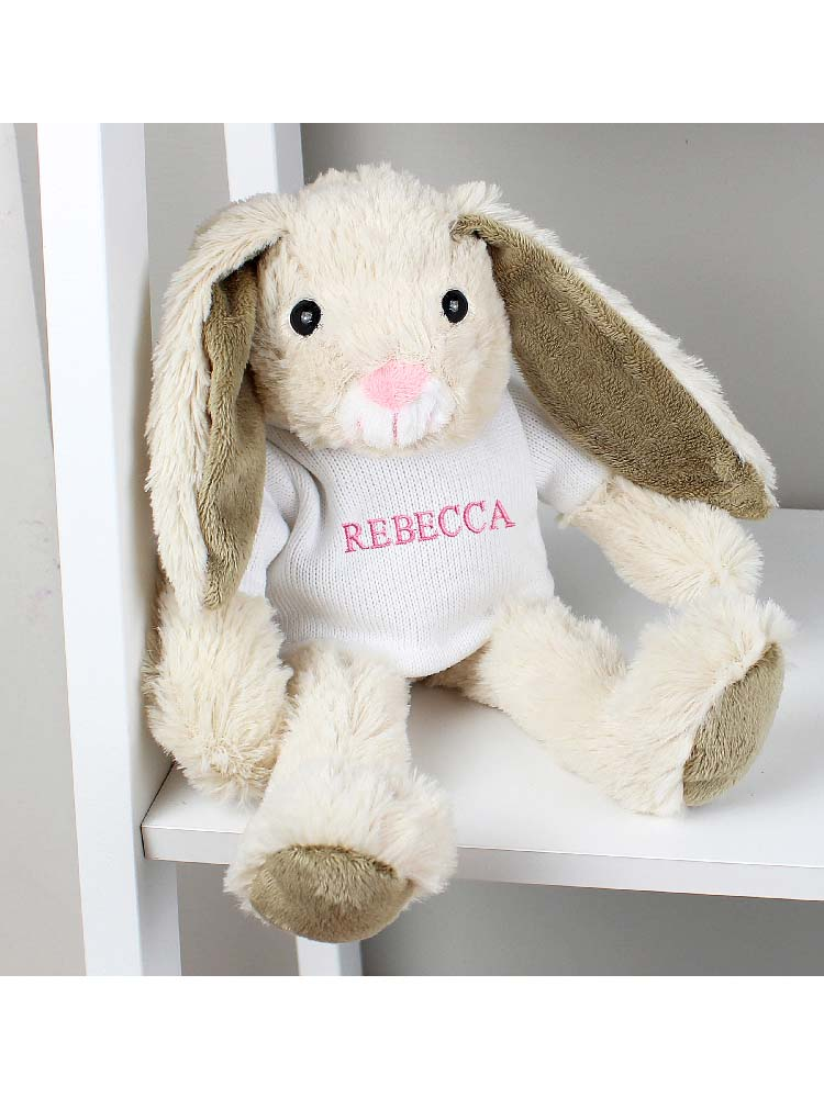 Personalised Name Only Bunny Rabbit - Pink Embroidery