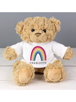 Personalised Rainbow Teddy Bear