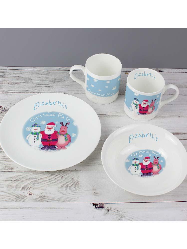 Personalised Snow Scene Breakfast Set