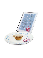 Personalised Snow Scene Mince Pie Plate & Letter