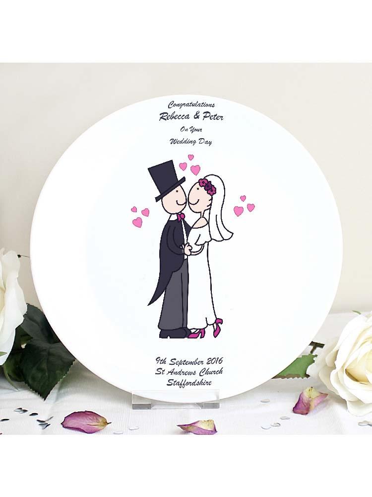Personalised Cartoon Couple Plate