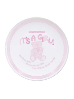 Personalised Teddy It's a Girl Plate