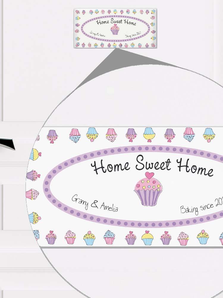 Personalised Cupcake Door Plaque