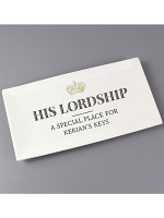 Personalised His Lordship Bone China Tray