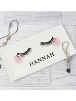Personalised Eyelashes Bone China Trinket Tray